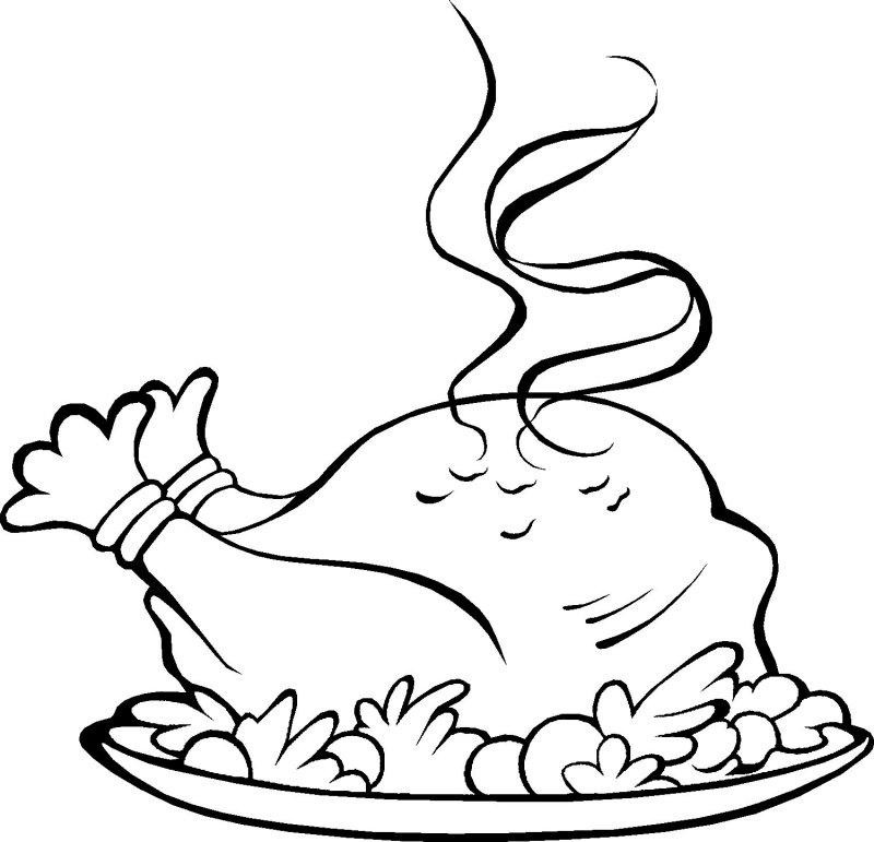 turkey dinner coloring pages - photo#2