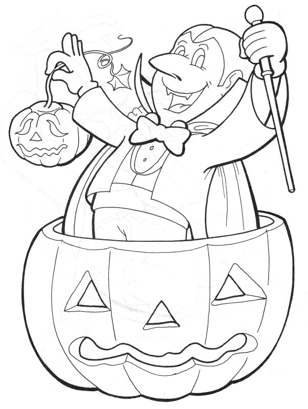 Halloween Pictures Coloring Pages #1