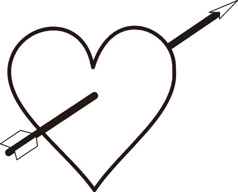 Arrow heart coloring pages