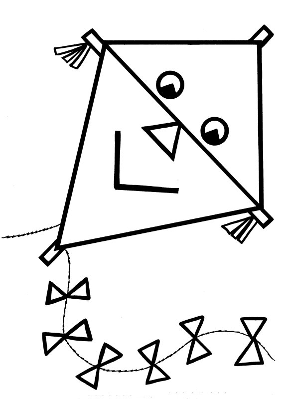 Kite Preschool Coloring Pages