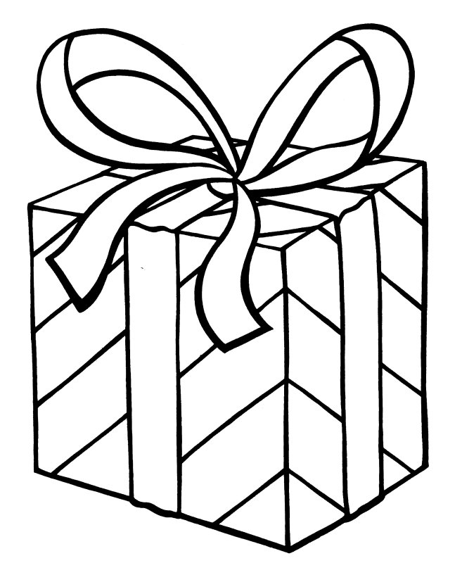 Christmas coloring pages for Coloring pages of christmas presents