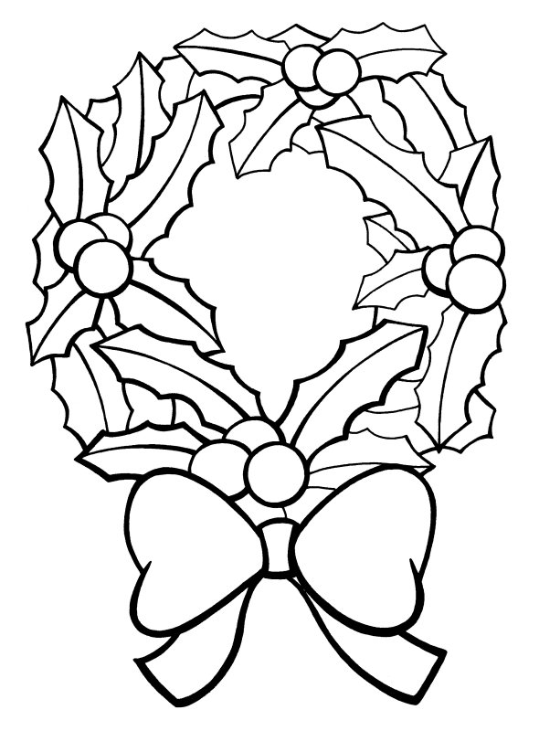 Christmas Coloring Pages Free Printable Coloring Wreath Pages